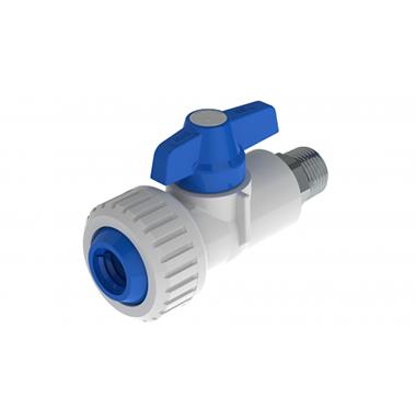 Válvula de Bola Macho en PVC con Inserto Metálico