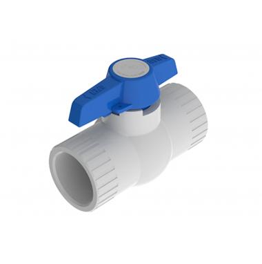 Válvula De Bola Compacta En PVC Tipo Pesado