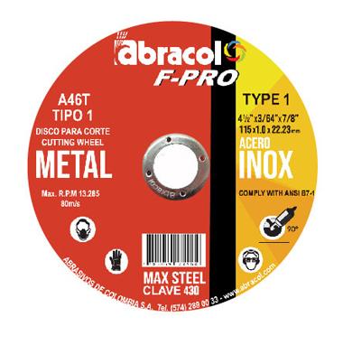 Disco F-PRO para Metal Tipo 1